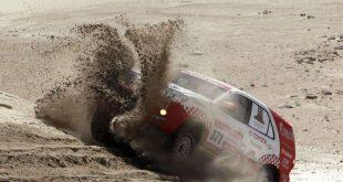 Dakar 2018: Piloto mendocino quedó con su auto en 90°