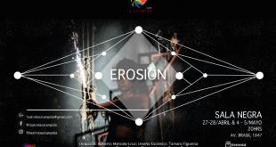 Con EROSIÓN, obra inspirada en la tragedia de Medea,   Sala Negra de la Escuela de Teatro UV abre su temporada Teatral 2018