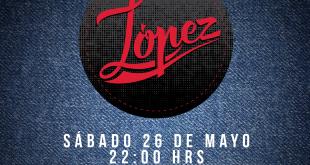 Este sábado, López se presenta en formato acústico en Casa Conejo