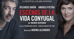"""RICARDO DARÍN el actor más respetado y admirado de Iberoamérica regresa a Chile con """"ESCENAS DE LA VIDA CONYUGAL"""""""