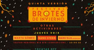 Quinta versión del Festival Brotes de Invierno regresa al GAM y por primera vez se realizará en Concepción