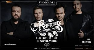 "The Rasmus visita Chile con ""Dark Matters Tour"""
