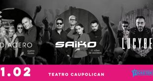 Inédito concierto reunirá a DIACERO, SAIKO Y LUCYBELL